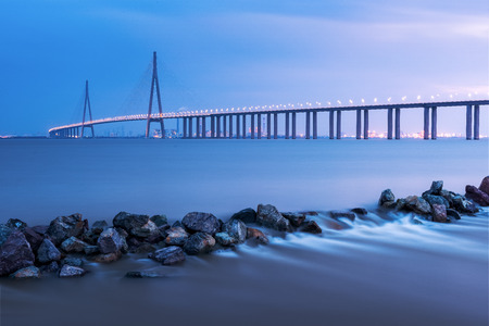 Sutong Bridge, Jiangsu, China Standard-Bild