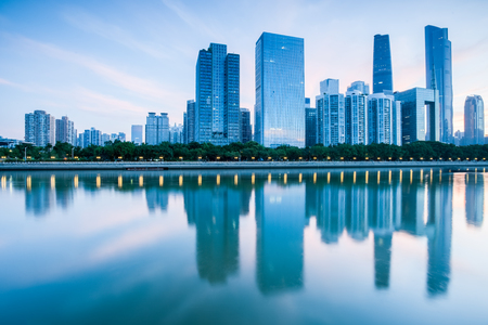 Guangzhou pearl river new city, guangdong province, China Stock Photo