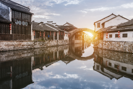 Nanxun ancient town, huzhou, zhejiang, China 스톡 콘텐츠