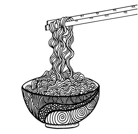 Doodle Noodle, dessin à la main Banque d'images - 95218337