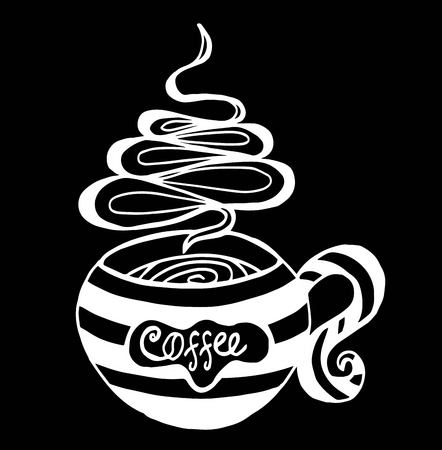 Coffee cup pattern vector illustration Illustration