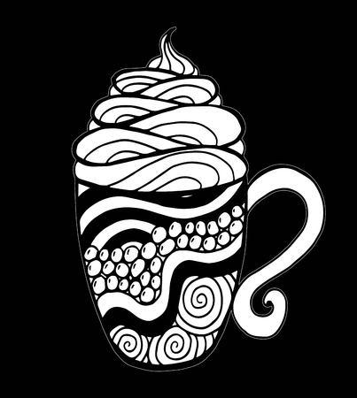 Coffee cup pattern vector illustration Ilustração