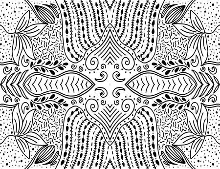 Unique hand drawn abstract vector floral background  イラスト・ベクター素材
