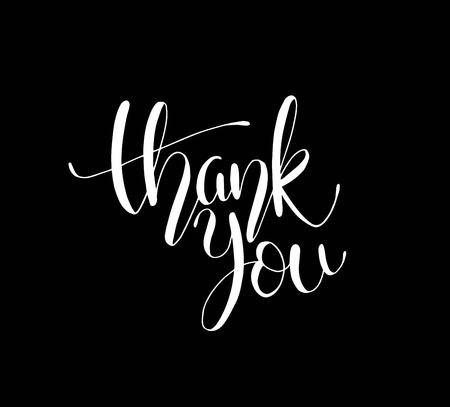 Thank you text, handwritten. Calligraphy lettering Vector illustration  イラスト・ベクター素材