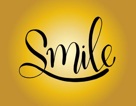 Smile font design, vector illustration, graphic, hand lettering Illustration