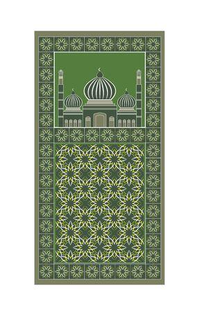 Rug for a Islamic prayer, vector illustration