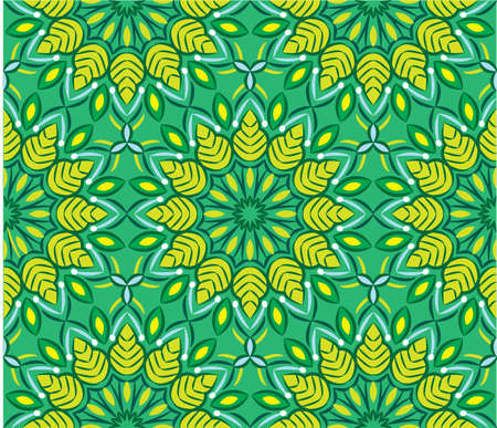 Ornamental mandala design abstract background. Seamless pattern with flowers