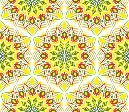 Ornamental mandala design abstract background. Seamless pattern with flowers Banque d'images - 151682068