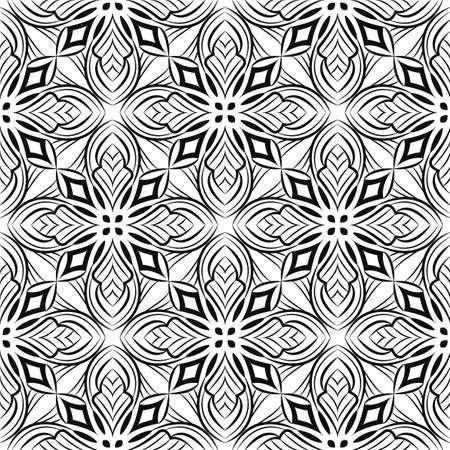 Ornamental mandala design abstract background. Seamless pattern
