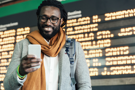 Businessman in the Train Station. Business Concept Standard-Bild