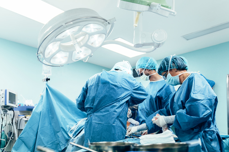 Team of Surgeons Operating in the Hospital
