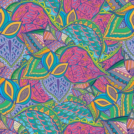 almonds: Vector hand drawn peaches and almonds doodle pattern. Seamless pattern created for making wallpaper, background, textiles, wrapping.