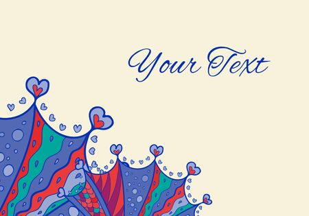 postal card: Vector abstract  horizontal invitation or postal card with place for your text.