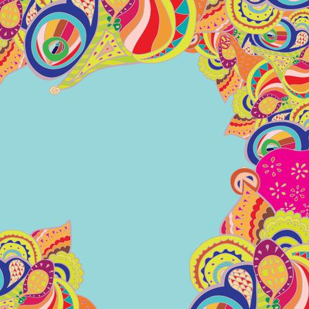 Vector border illustration. Decorative element border for invitation card, background, wallpaper and web design.