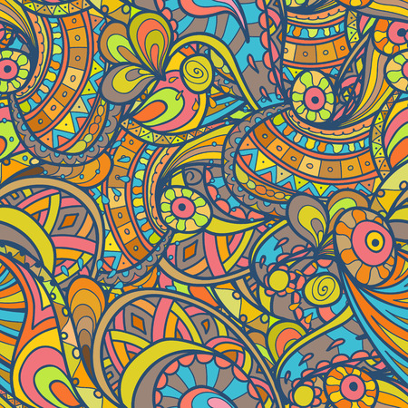 wallpaper doodle: Vector hand drawn doodle pattern. Seamless pattern created for making wallpaper, background, textiles, wrapping.