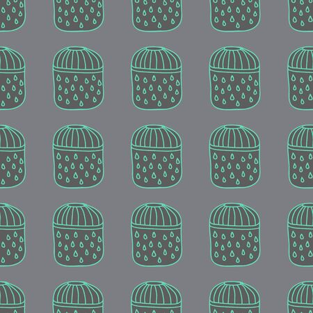 interiors: Vector handmade vase pattern perfect for textile design, web design, creating backgrounds, wallpapers and decorating interiors. Illustration
