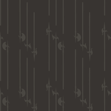 halberd: Historical halberd silhouettes pattern. Weapons pattern is perfect for textile design, web background, web design, wallpapers and notebook wrappings.