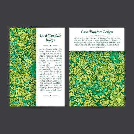 Set of two template designs, perfect for brochure covers, leaflets, flyers, cards and invitations.