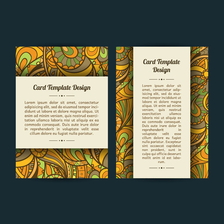 bookcover: Set of two universal spring summer card template designs, perfect for brochure covers, leaflets, cards and invitations.
