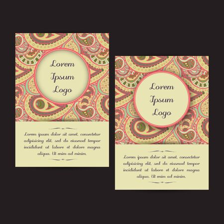 bookcover: Set of two universal card template designs, perfect for brochure covers, leaflets,  cards and invitations. Illustration