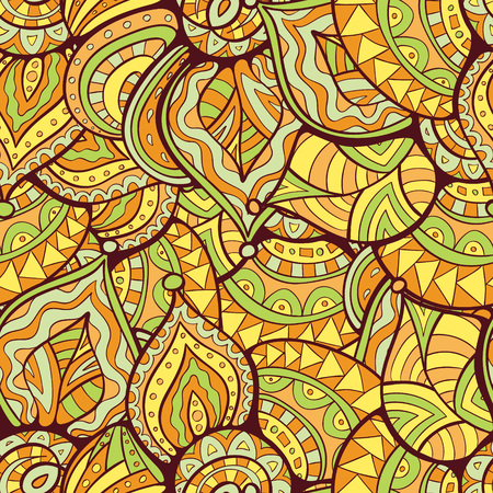 abstract doodle: abstract leaves doodle pattern. Abstract doodle pattern for textile design, web design, wallpapers and backgrounds. Illustration