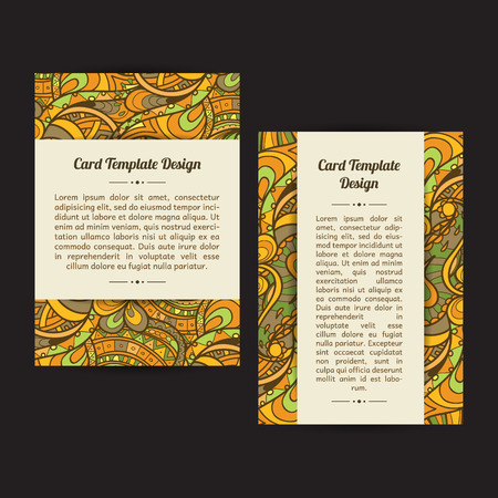 bookcover: Set of two universal card template designs, perfect for brochure covers, leaflets, cards and invitations. Spring or summer seasonal cards.
