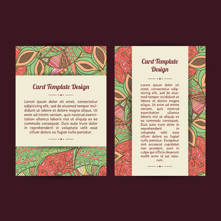 bookcover: Set of two pechy universal spring card template designs, perfect for brochure covers, leaflets, cards and invitations. Isolated card templates.