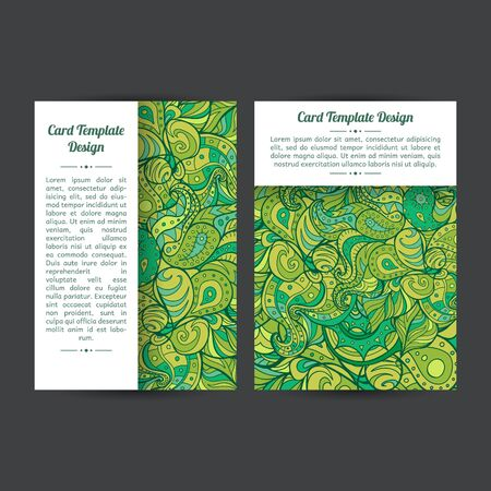 Set of two universal spring or summer card template designs, perfect for brochure covers, leaflets,  cards and invitations.