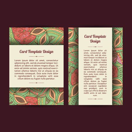 bookcover: Set of two spring universal card template designs, perfect for brochure covers, leaflets,  cards and invitations.