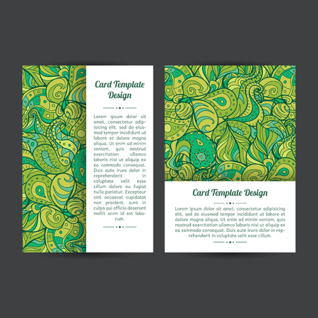 Set of two universal card template designs, perfect for brochure covers, leaflets,cards and invitations. Green, eco. Event announcementcard.