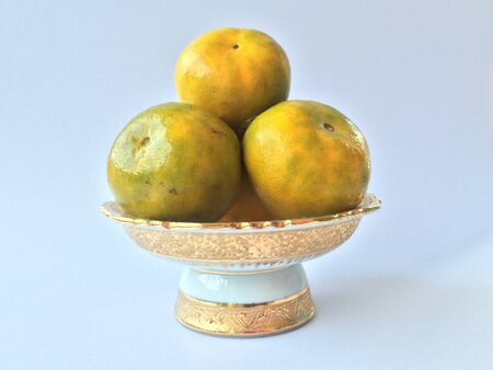 naranjas: Oranges white background Foto de archivo