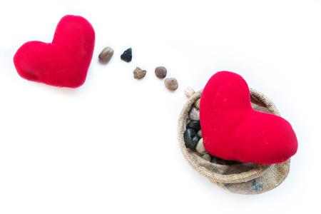 발렌타인 데이, 행복 한 새 해 축 하, 사랑의 의미, 누군가에 게 메시지를 보내 따뜻한 느낌, 최고의 소원, 사랑, 두 개의 빨간 베개 하트, 돌 라인 선물