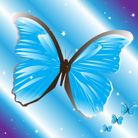 Papillon bleu Vecteurs
