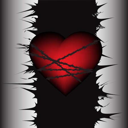 gefesselt: Zugeordnete Herz