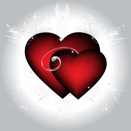 Two ardent  hearts, Vector illustration, eps10 Vector