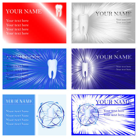 fillings: Dental Business Cards, illustration,  Illustration