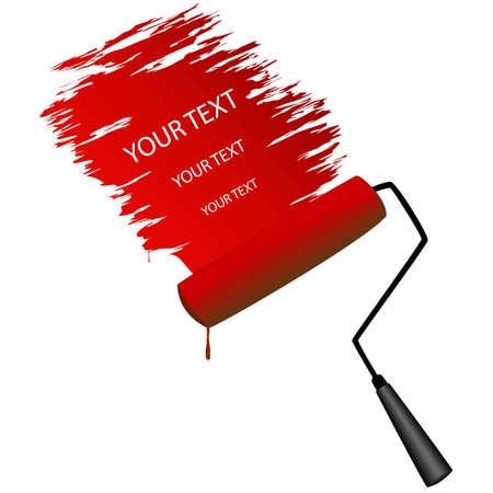 brush modern: Paint roller,  Illustration