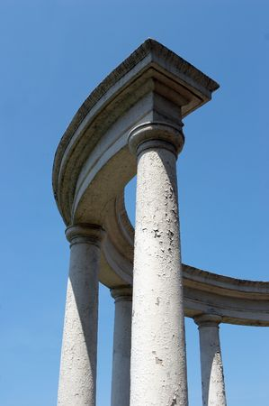 Ancient city structure with columns Stock Photo - 450033