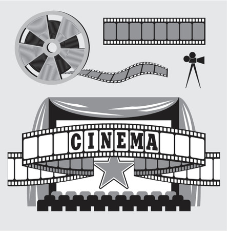 35mm film motion picture camera: ilustraci�n del vector