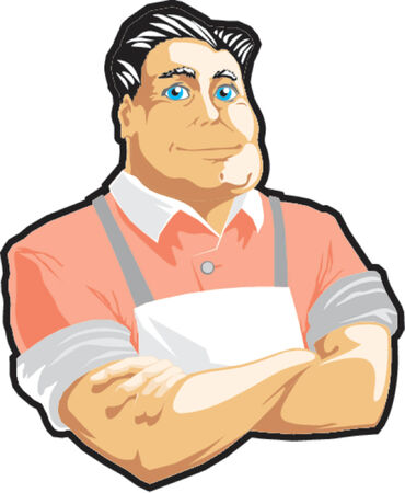 confectioner: vector illustration Illustration