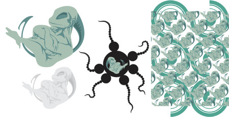 feelers: ilustraci�n vectorial Vectores