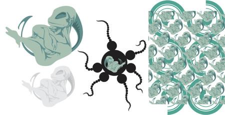 feelers: vector illustration Illustration