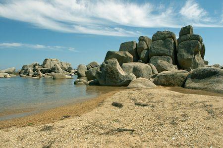 Stones at coast of the Japanese sea photo