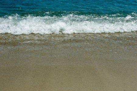 Coast of a beach, foam photo