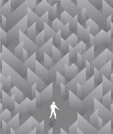 The social poster with the image of a labyrinth Vector