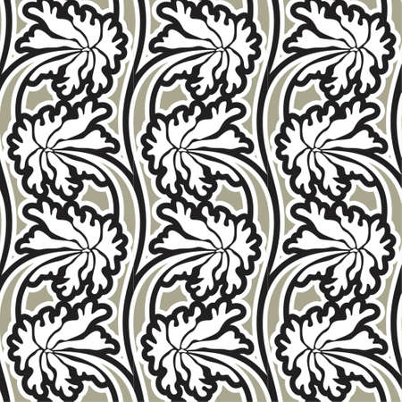 Seamless background from a flower ornament, Fashionable modern wallpaper Stock Vector - 866264