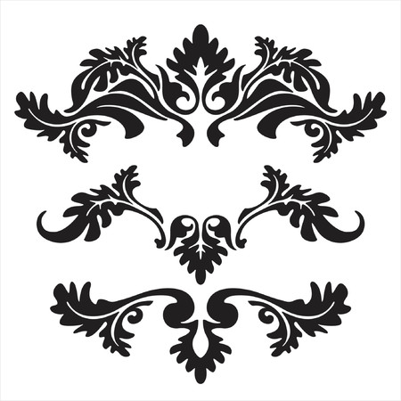 fancy design: vector ornament In flower style Illustration