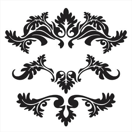barocco: Vector ornamento in fiore stile  Vettoriali