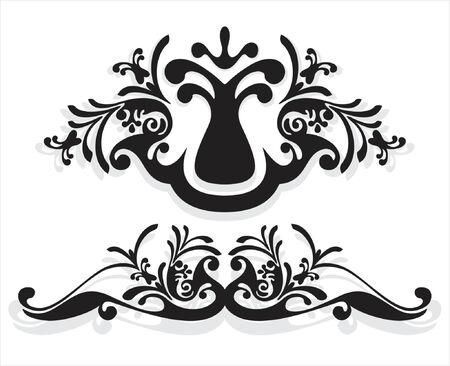 fancy border: ornamento del vector en estilo de la flor