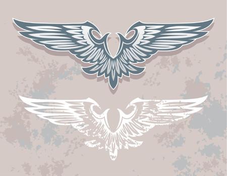 vector design element, heraldic wings Stock Vector - 866242